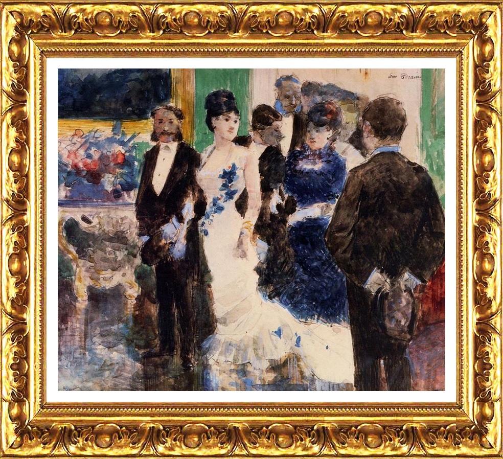 Вечерний приём в Париже, 1878, Форен Жан-Луи (1852-1931) акварель