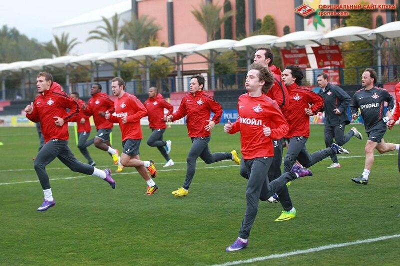 Первая тренировка «Спартака» в Испании (Фото)