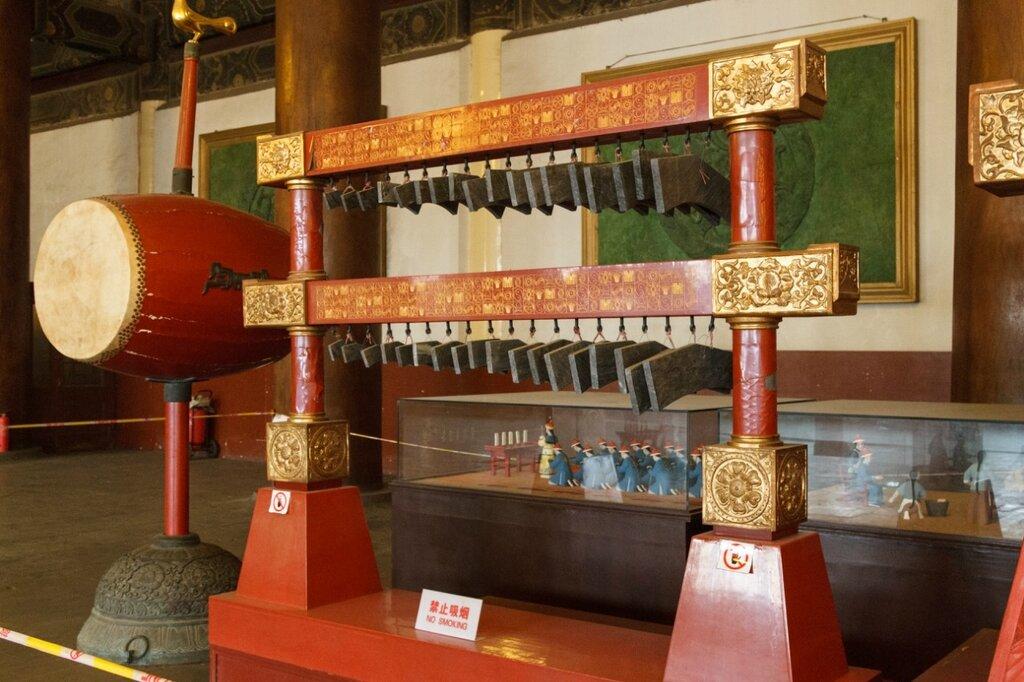 Экспозиция в Зале Жертвоприношений, Храм Императорских Предков, Пекин