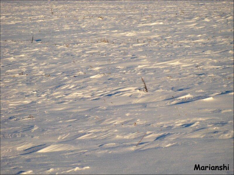Снежный рельеф