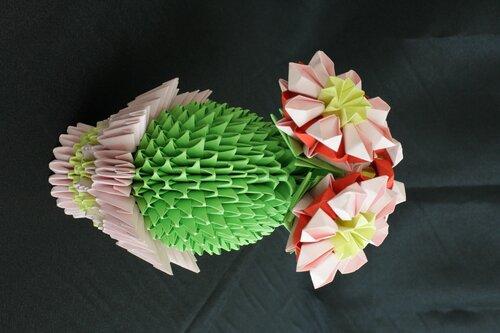 Модульное оригами. Кактус.