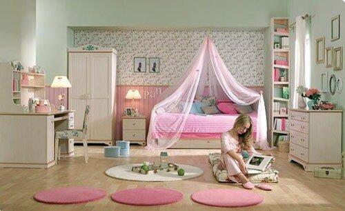 Интерьер детской комнаты для девочек