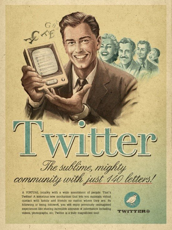 Твиттер 50 лет назад