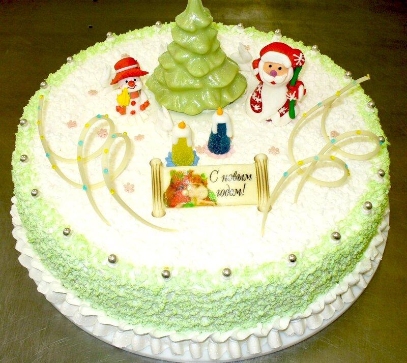 самые красивый новргодний торт рецепт