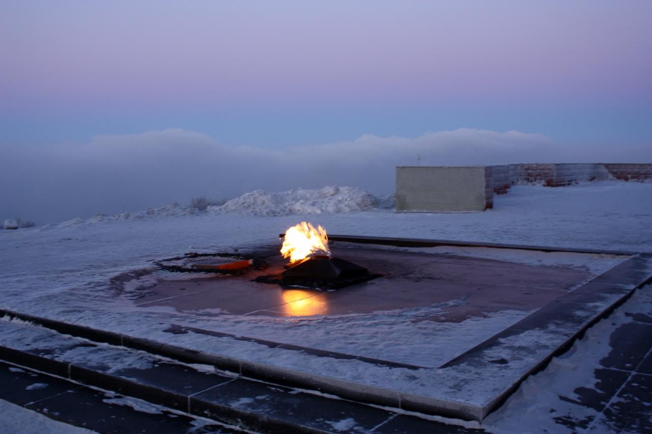 вечный огонь,как память о защитниках северных берегов