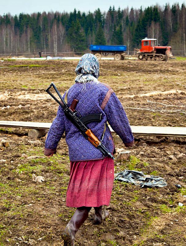 фото жены в деревне