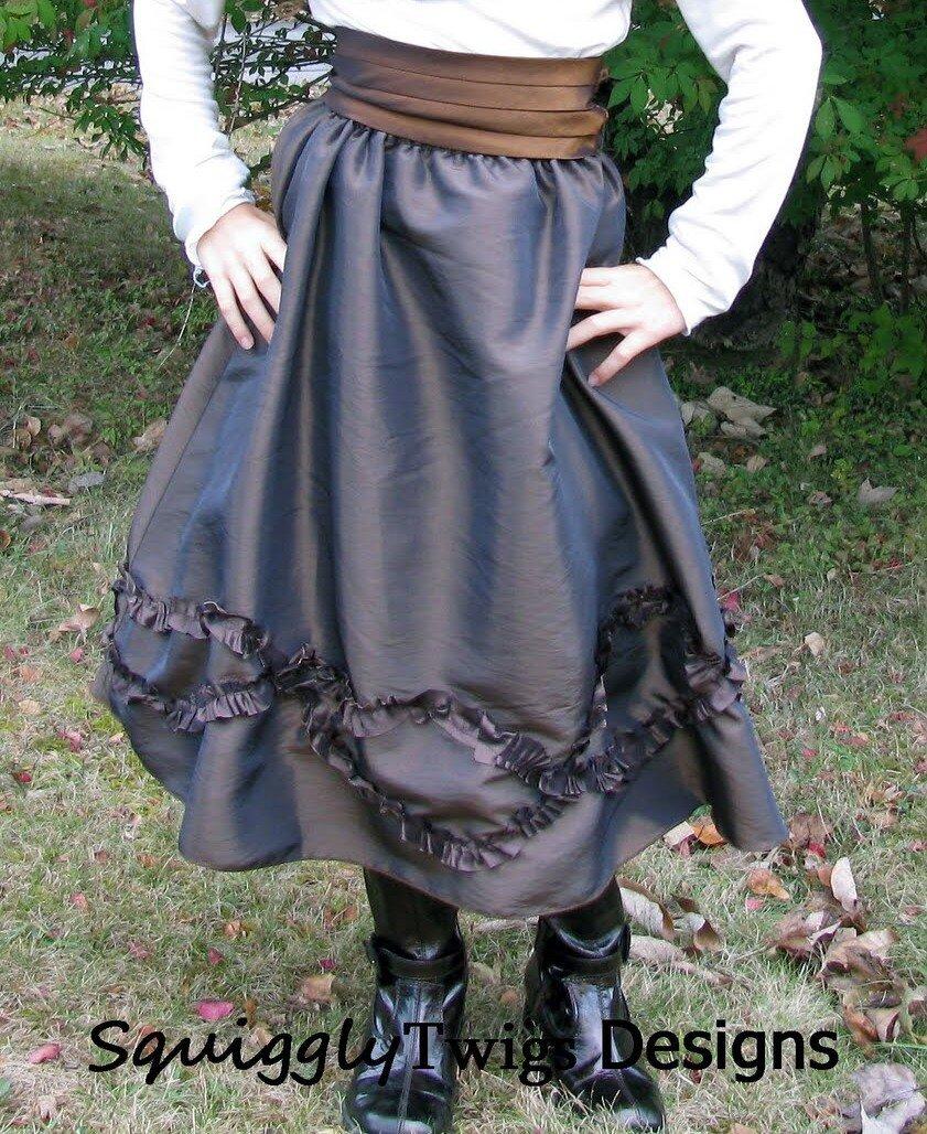 Вязанные модели юбок для девочек