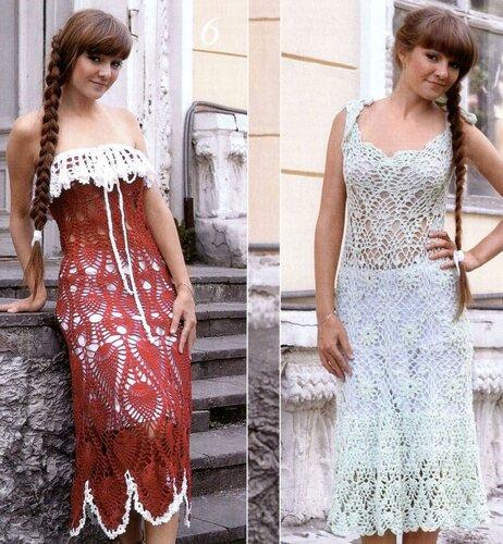 летние платья крючком