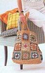 Вязаная сумка крючком из мотивов Оранжевое лето.
