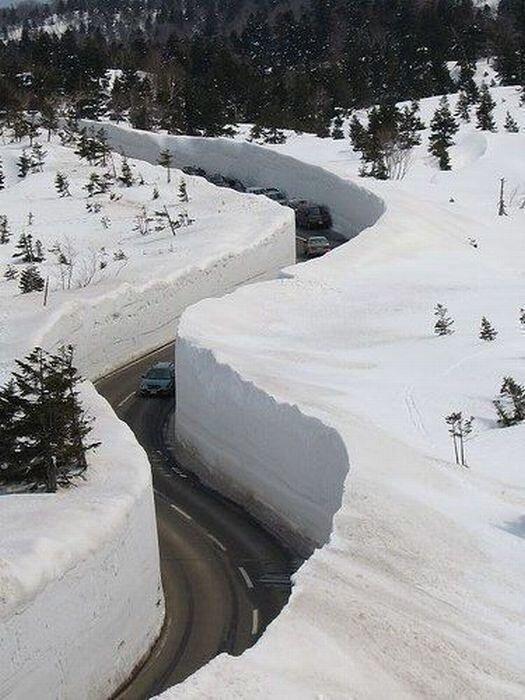 снежный каньон