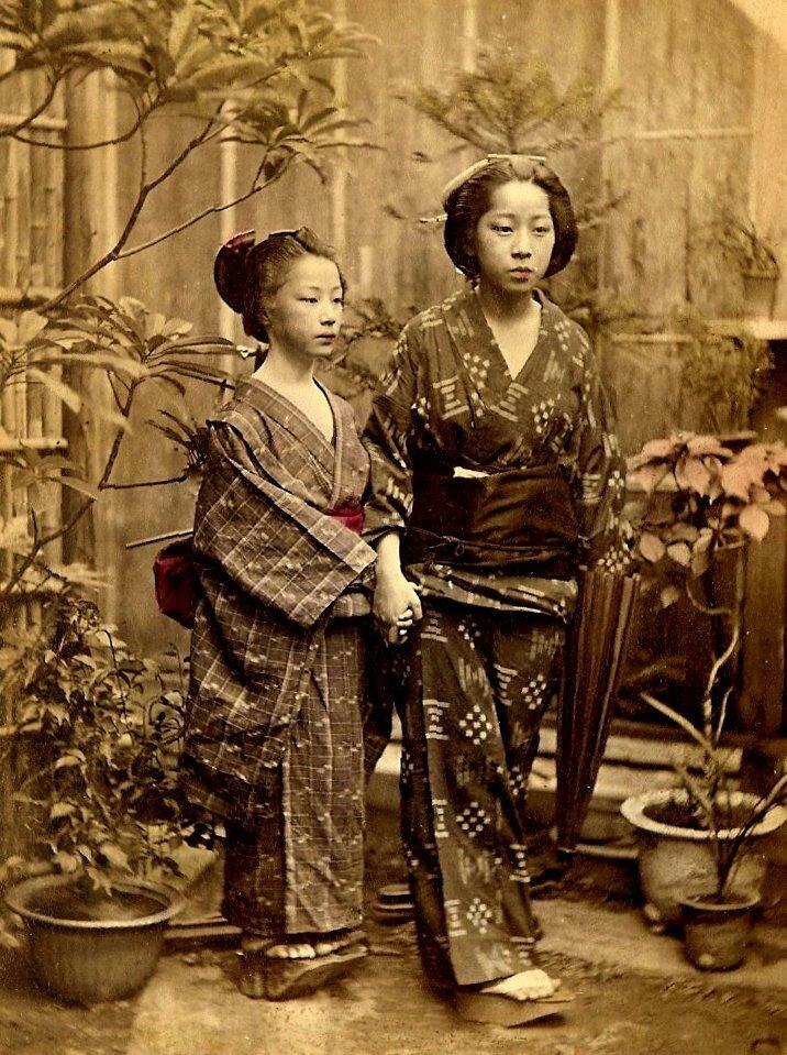 Old Japan.Прогулка в японском саду