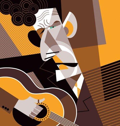 Lyle Lovett by Pablo Lobato