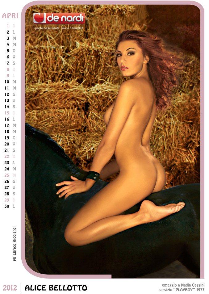 Календарь на 2012 год De Nardi - Sexy Italia 1970s - модель Alice Bellotto / использован образ фотомодели Nadia Cassini, звезды журнала Playboy 1977 года