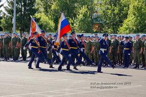 Прохождение торжественным маршем, Празднование 85-летия ВДВ в 45 полку СпН ВДВ (теперь отдельная бригада), Кубинка