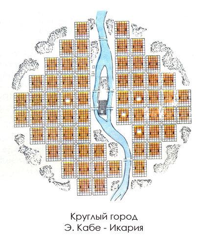 Круглый город Э. Кабе - Икария, план