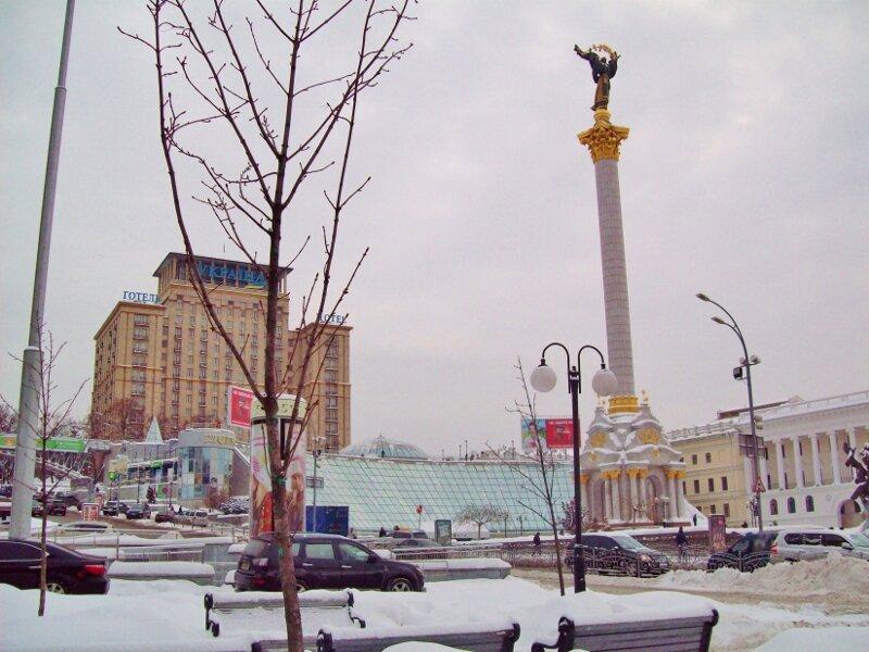 Снег на Крещатике
