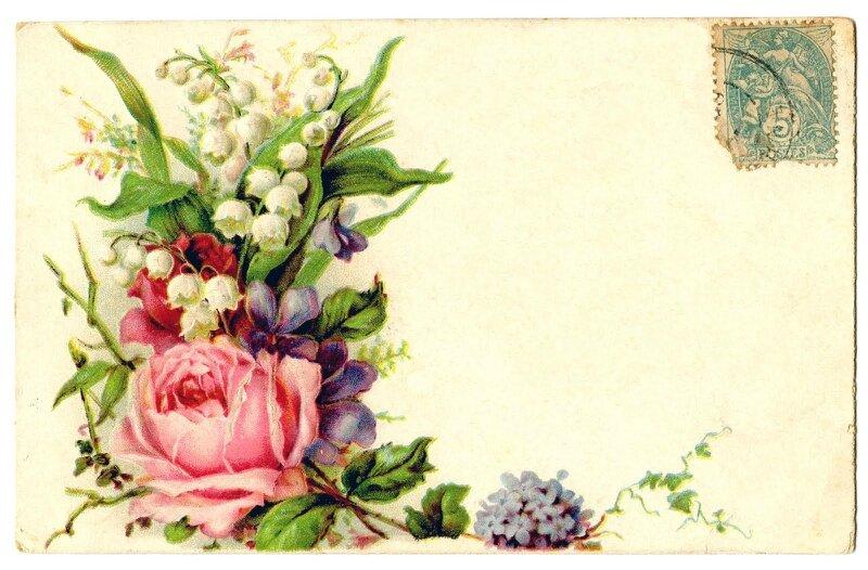 Ретро картинки для декупажа цветы 7