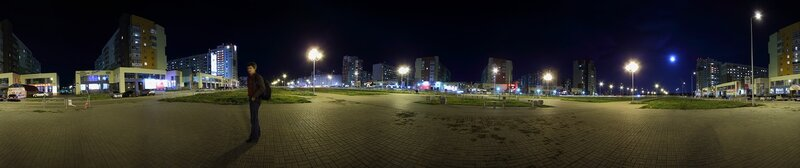 Челябинск. Панорама улицы Академика Королёва. Октябрь 2011