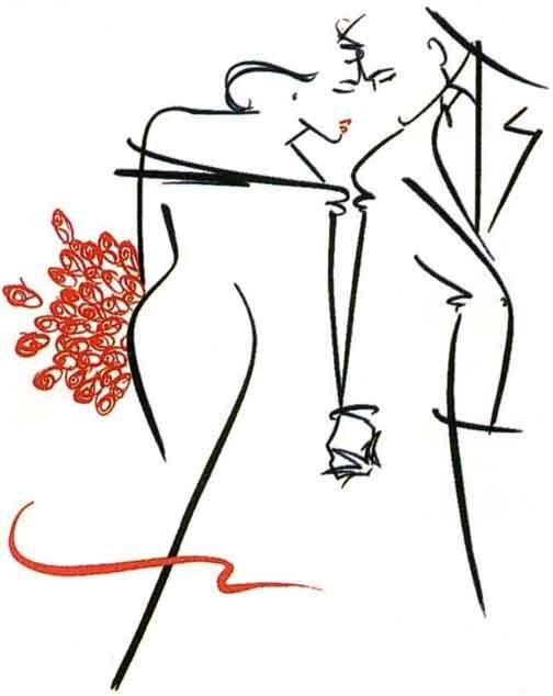 рисованные влюбленные пары -