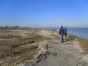У моря, ноябрь, Ясенская коса, туризм, 2014 год