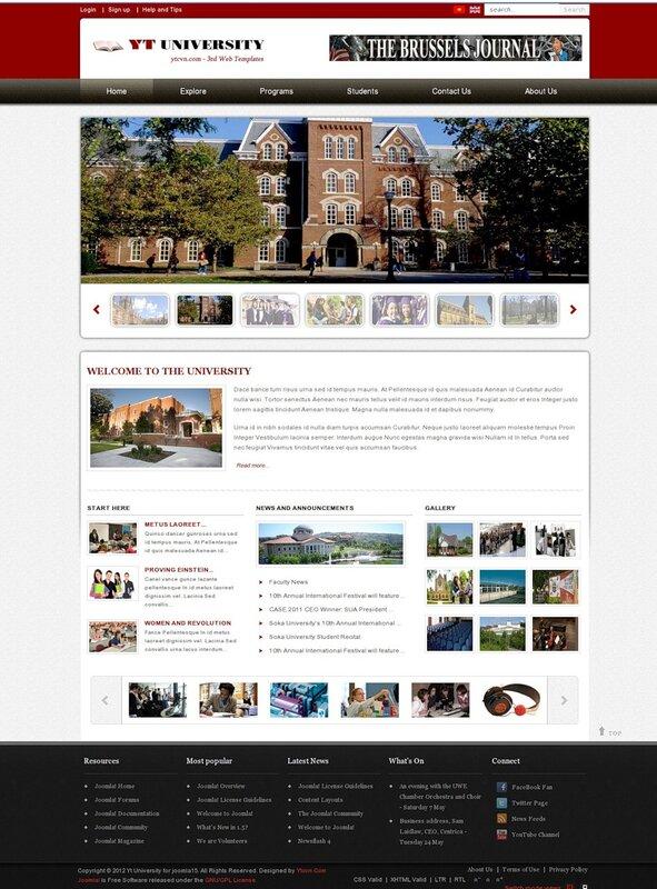 Joomla 2.5 Yt University