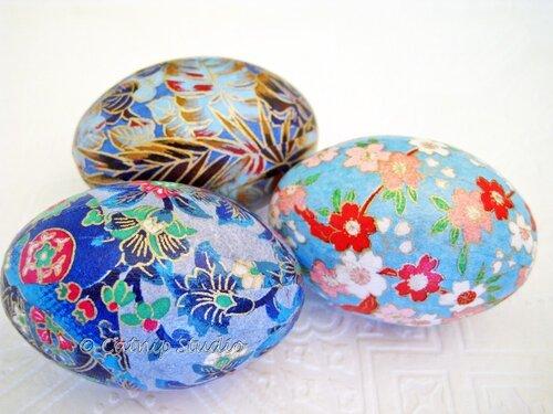 пасхальные яйца бирюзового цвета