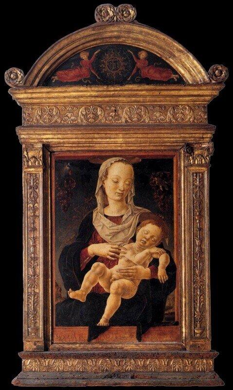 Козимо Тура. Мадонна с младенцем