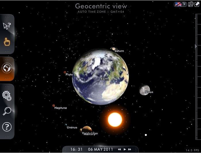 3D-модель Солнечной системы.