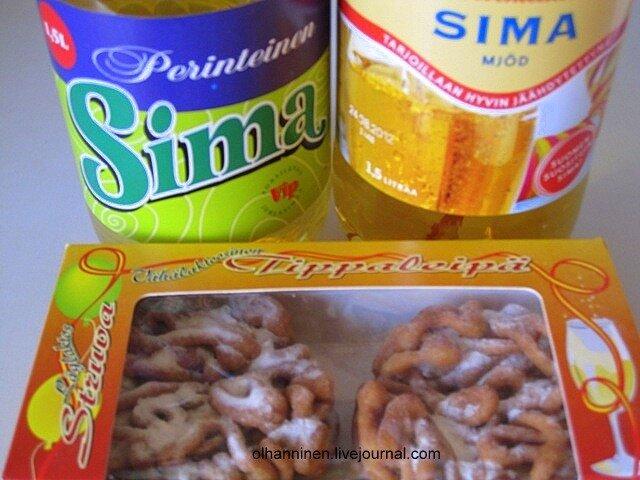 На Первомай, Праздник Свободы, фин.Vappu, финны пьют лимонад и едят сладкий хворост