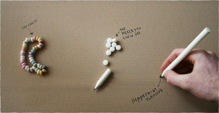 съедобные карандаши