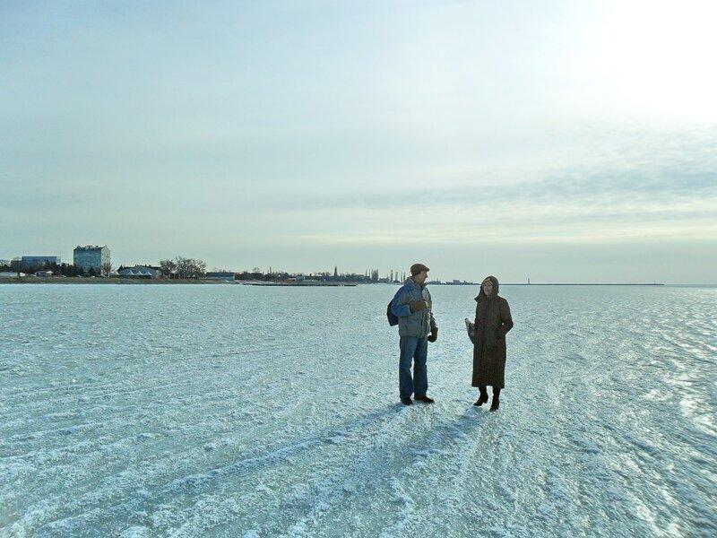 По ледяному покрытию...