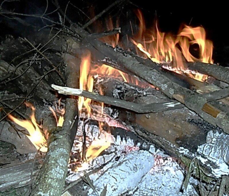 Огни костра.