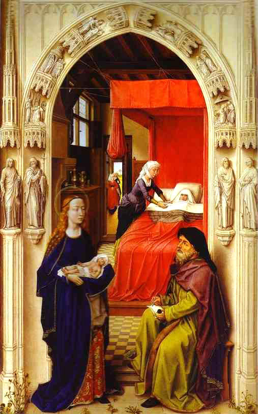 15 WEYDEN BIRTH OF JOHN THE BAPTIST