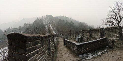 Не туристическая китайская стена Ввысь