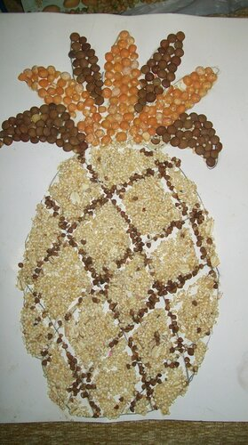 Поделки из чечевицы
