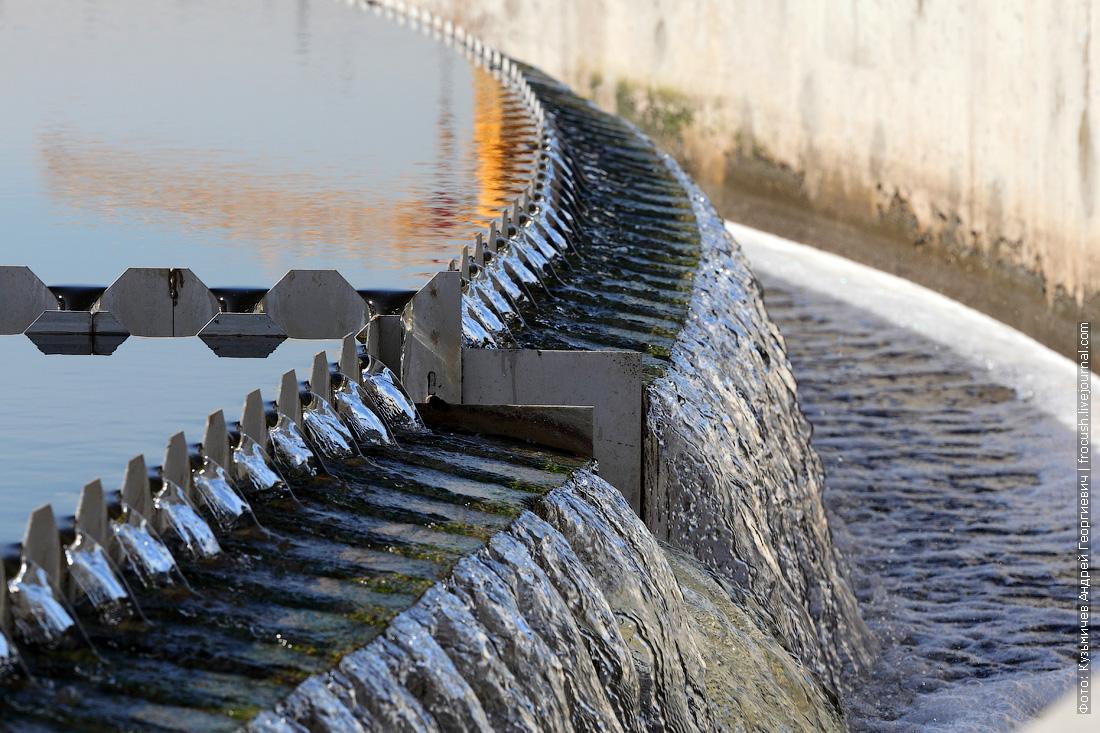 водослив вторичного отстойника курьяновские очистные сооружения фото