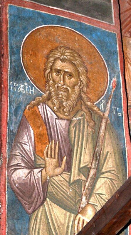 Праведный Лот. Фреска монастыря Высокие Дечаны, Косово, Сербия. Около 1350 года.