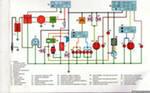 4.Генератор.  Принципиальная схема электрооборудования типового мопеда.  7.Предохранитель.  8.Стартер.