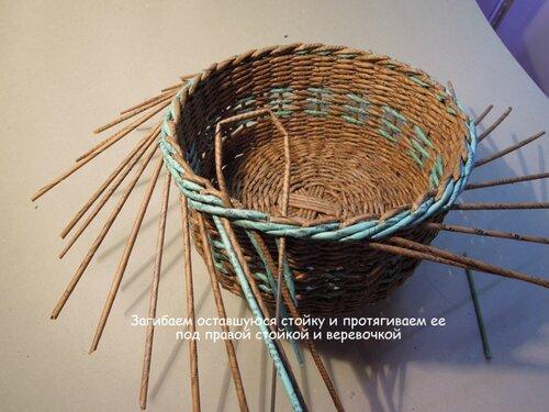 Как закончить плетение из газетных трубочек мастер класс