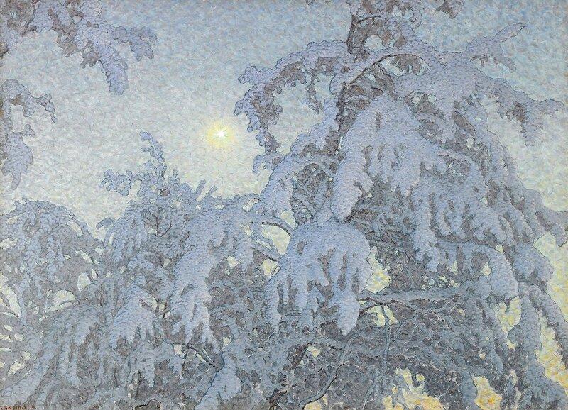 Gustaf Fjaestad. Зимнее солнце. 1914.jpg