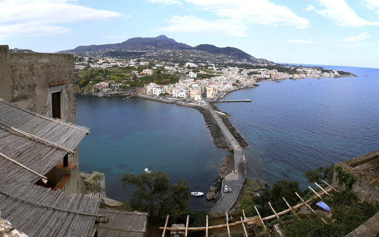 Ischia. Aragonese castle. The view from the terrace of the Immaculate conception