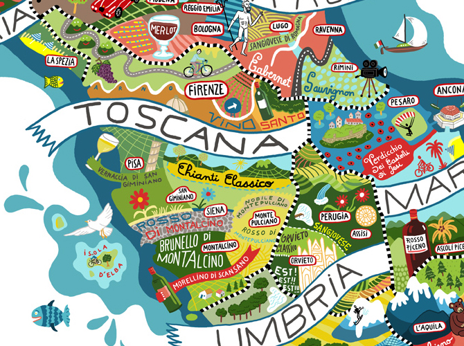 Иллюстрированный путеводитель по Италии. Antoine Corbineau - гурманам