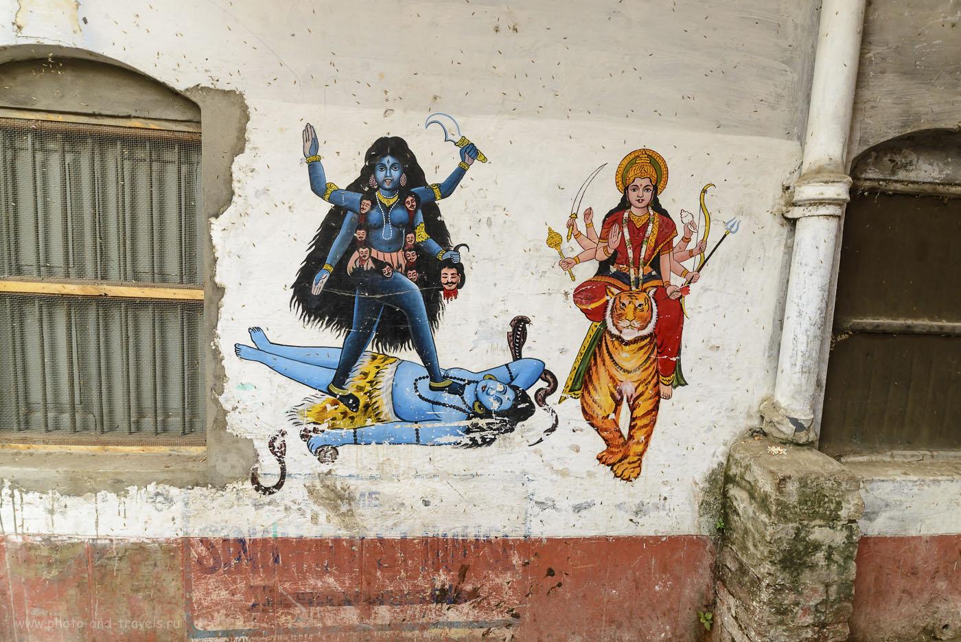 Фото 9. Кто бы подсказал, что за божество изображено на этой картине? Варанаси. Индия. Отзывы туристов. 1/40, 8.0, 400, 14.