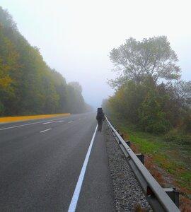 Октябрь 2014, утро, туман, дорога в Горячий Ключ