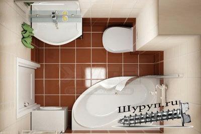 Как увеличить ванную комнату