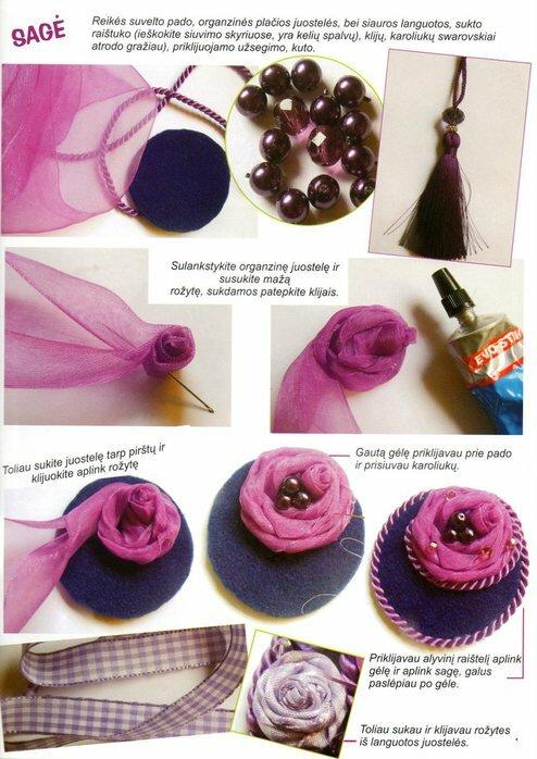 Как сделать цветы на кофточку