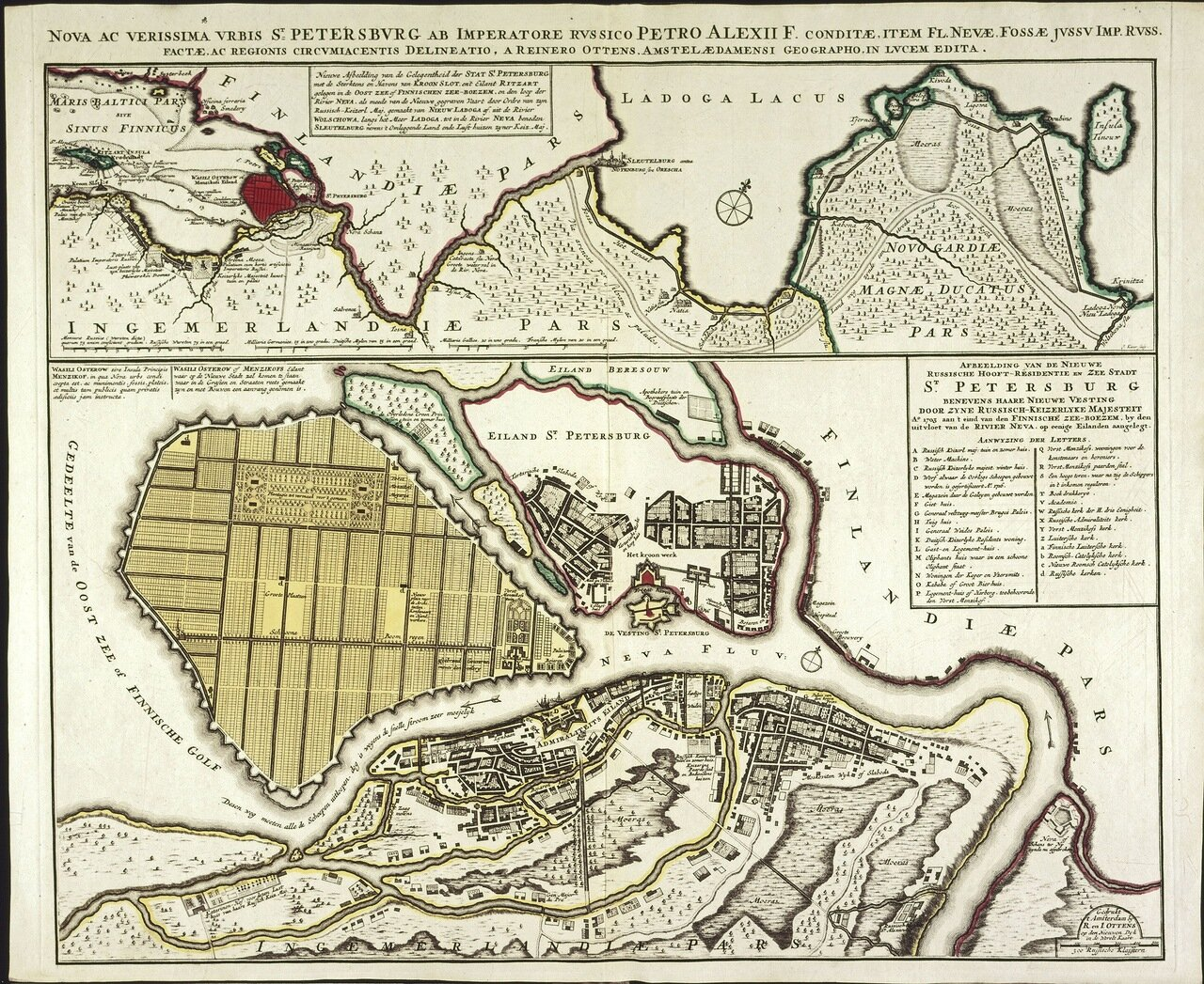 1725. Нева и Санкт-Петербург, основанный русским императором Петром Алексеевичем