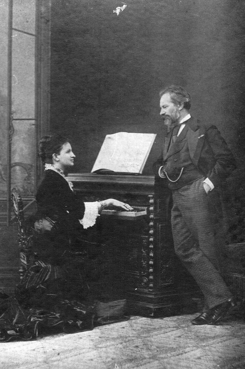 32. Пианистка профессор А.Н.Есипова и профессор Ф.О.Лешетицкий