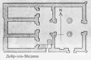 Храм Дейр-эль-Медина, план