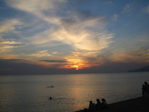 Черное море, Крым, разлив Священной Ганги